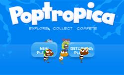 Poptropica Title Screen