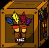 Aku Aku Crate - Wood
