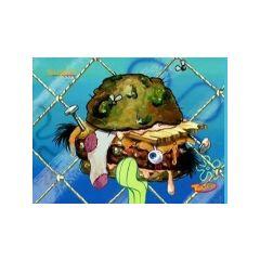 Otra congreburger inmunda cuando Calamardo era el cocinero
