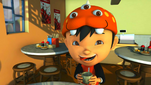 Young BoBoiBoy drinking milk