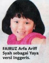 Fairuz Arfa Ariff Syah on English version