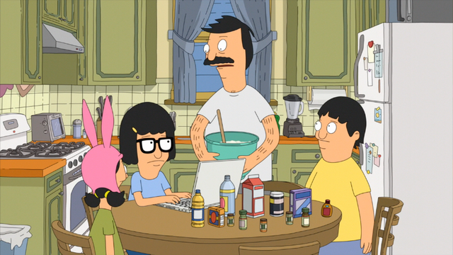 File:S5E18.02 Bob and the Kids Working on Linda's Surprise.png