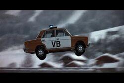 Polizeiwagen Sprung