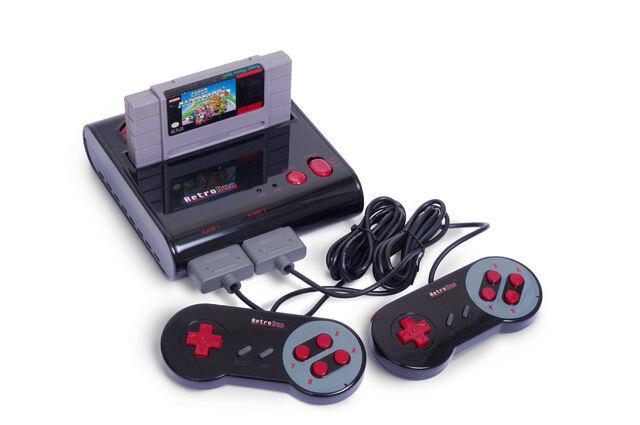 File:B76e retro duo nes snes game system.jpg