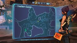 Borderlands2 fire totem 1 map