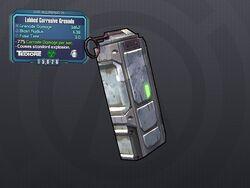LV 29 Lobbed Corrosive Grenade