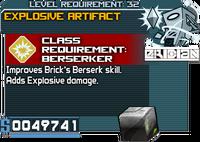 Explosive Artifact Berserker