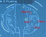 Salt Flats Scavenger map