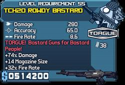 Tch20 rowdy bastard