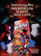Nickelodeon Magazine November 1998 Marshmallow Blasted Froot Loops Advertisement
