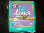 Luvs Ultra Leakguards Stretch diapers (size 5) bag