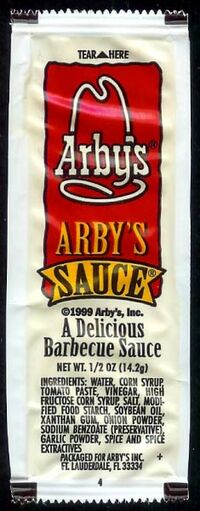 Arby's Sauce packet 1999