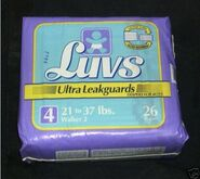 Luvs Ultra Leakguards diapers for boys size 4 bag 1994