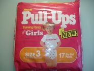 Huggies Pull-Ups for girls size 3 bag 1992