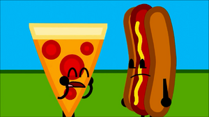 Pizza and hot dog