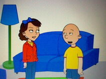 Caillou talking to Doris