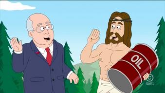 JESUS! he made oil for republicanz