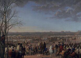 Austrian camp prior to battle