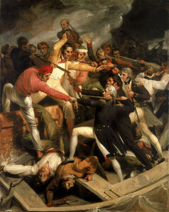 Venables is shot by barbary pirates