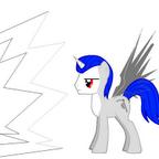 Azure Scythe alicorn
