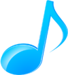 Music note icon by volcksonia