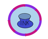 Blue Ink Badge