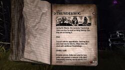 Thunderhog Tour Book