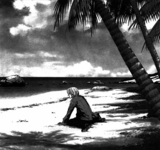 Sakamoto at the shore