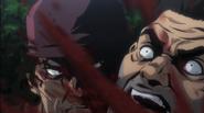 Masashi slits Isamu's Throat