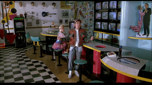 Marty McFly Jr. wearing pants inside-out