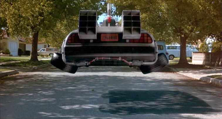 Image result for doc back to the future flying delorean