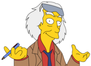 Simpsonized Emmett Brown