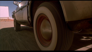 Whitewall tires on the DeLorean