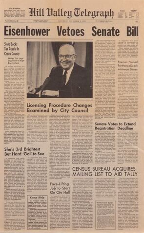File:Back to the future I - Hill Valley Telegraph - Eisenhower vetoes senate bill.jpg
