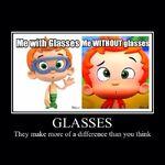 Whoa man.... glasses make a big difference