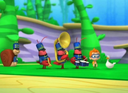 Marching bands wirh duck