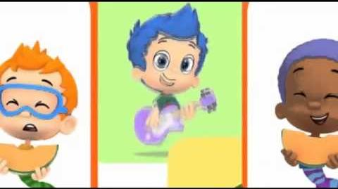 Bubble guppies fruit camp song
