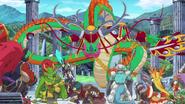 Tenbu Defats Cavalry Dragons