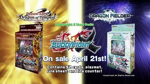 Future Card Buddyfight X Start Deck Demon Lord Dragon of Tempest