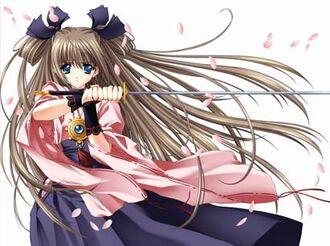 Anime girl with a sword by lightningstar022-d4oo30i