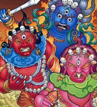 Wrathful goddesses