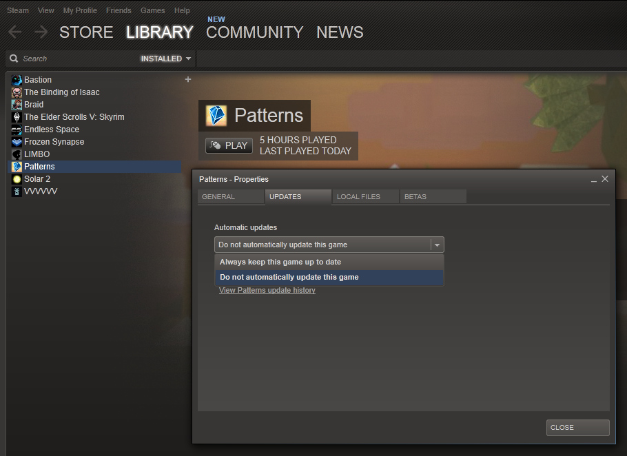 Patterns-steam-disable-update