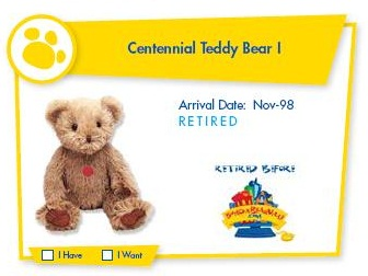 Centenial Teddy Bear I