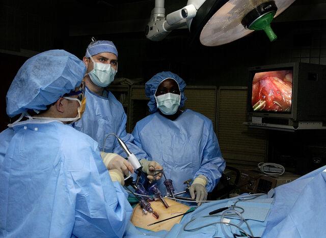 檔案:Laparoscopic stomach surgery.jpg