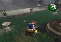 Lawnmowing yard