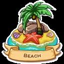 Location beach icon
