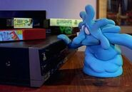 Squish checking the VCR