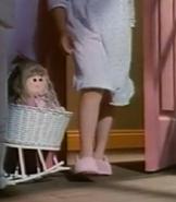 Little Sister walking in her room