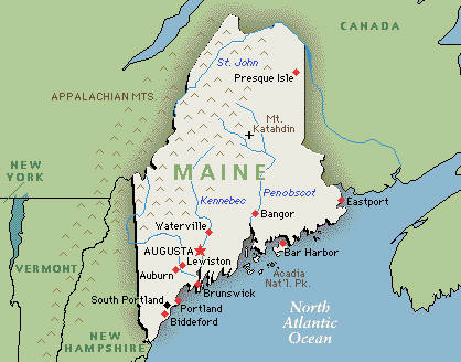 Where Is Maine Located Mapsofnet USA Geography Quizzes Fun Map