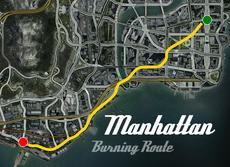 Manhattan Burning Route